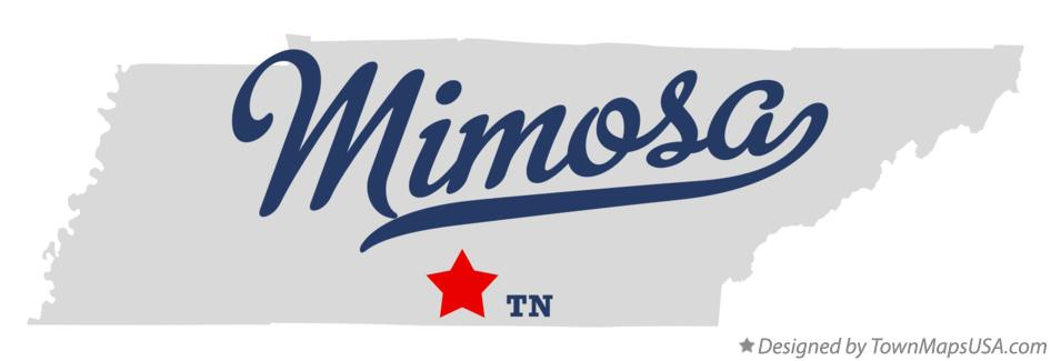 Map of Mimosa Tennessee TN