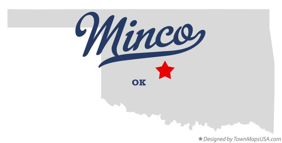 Map of Minco Oklahoma OK
