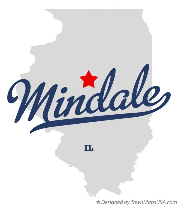 Map of Mindale Illinois IL