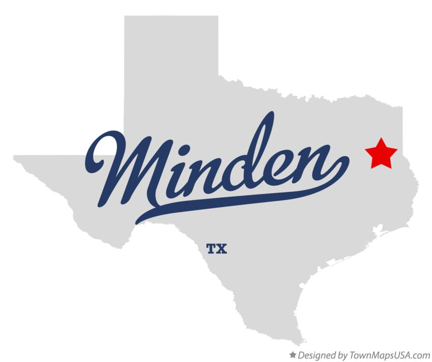 Map of Minden Texas TX