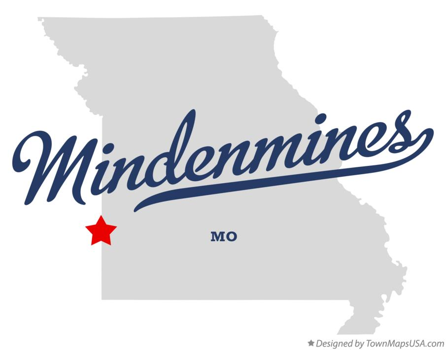 Map of Mindenmines Missouri MO