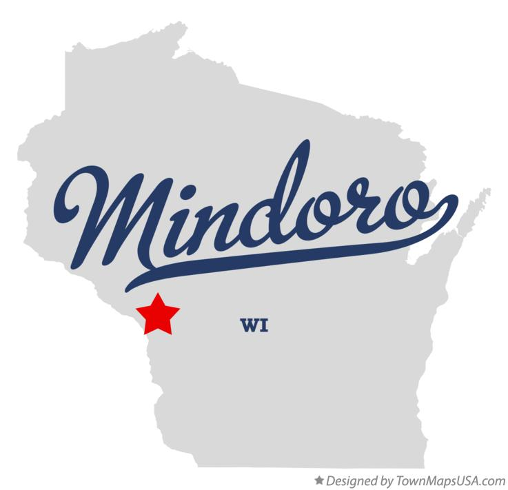 Map of Mindoro Wisconsin WI