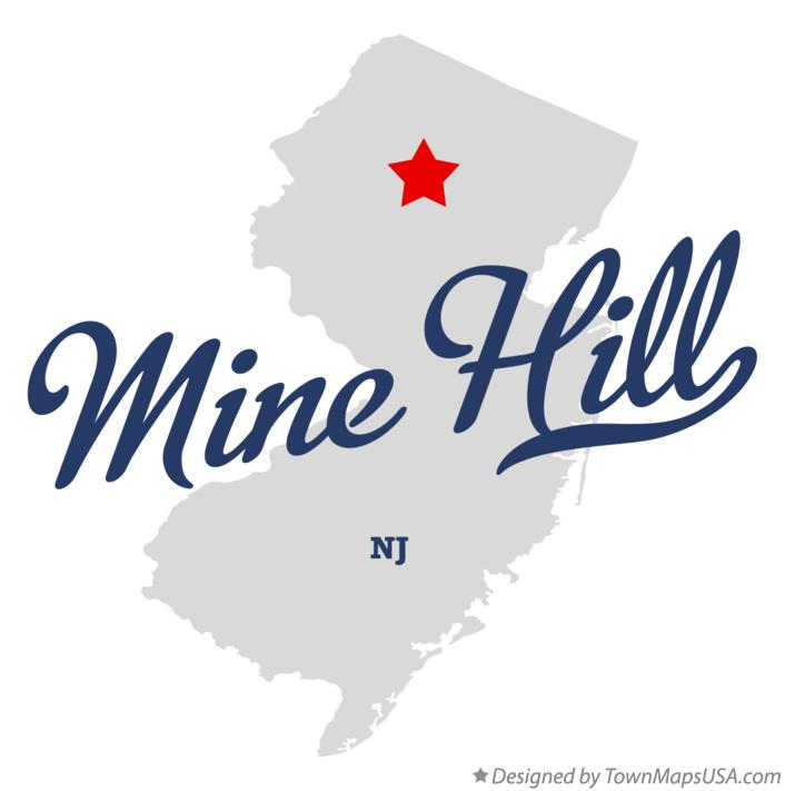 Map of Mine Hill New Jersey NJ