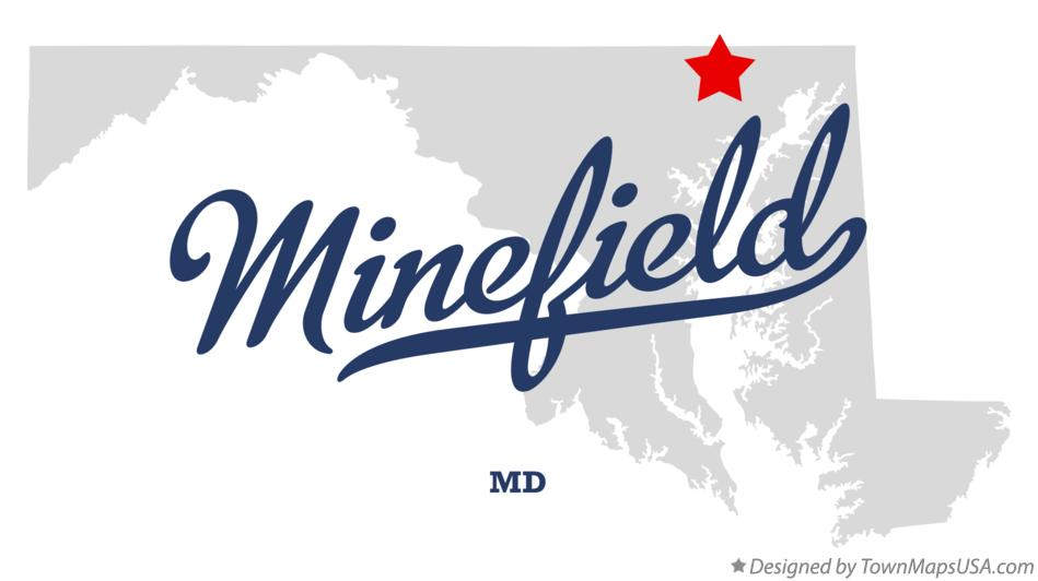 Map of Minefield Maryland MD