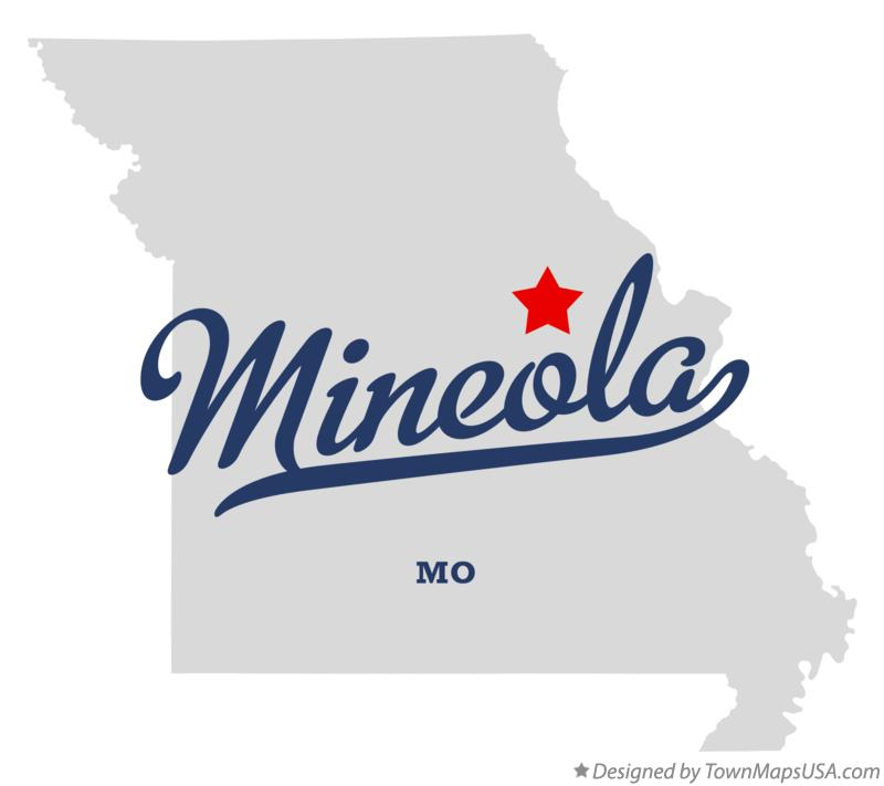 Map of Mineola Missouri MO