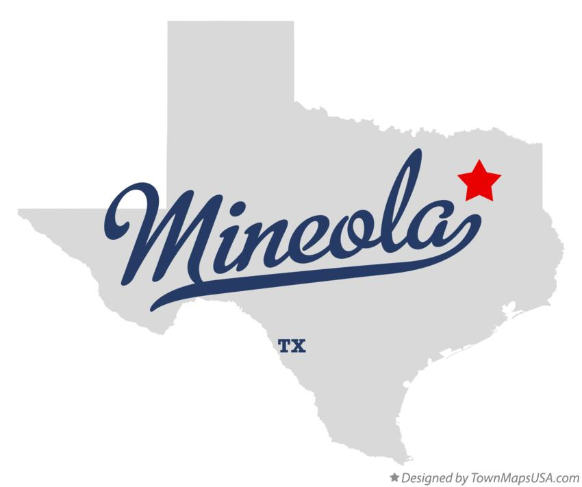 Mineola (TX) United States  City pictures : Map of Mineola, TX, Texas