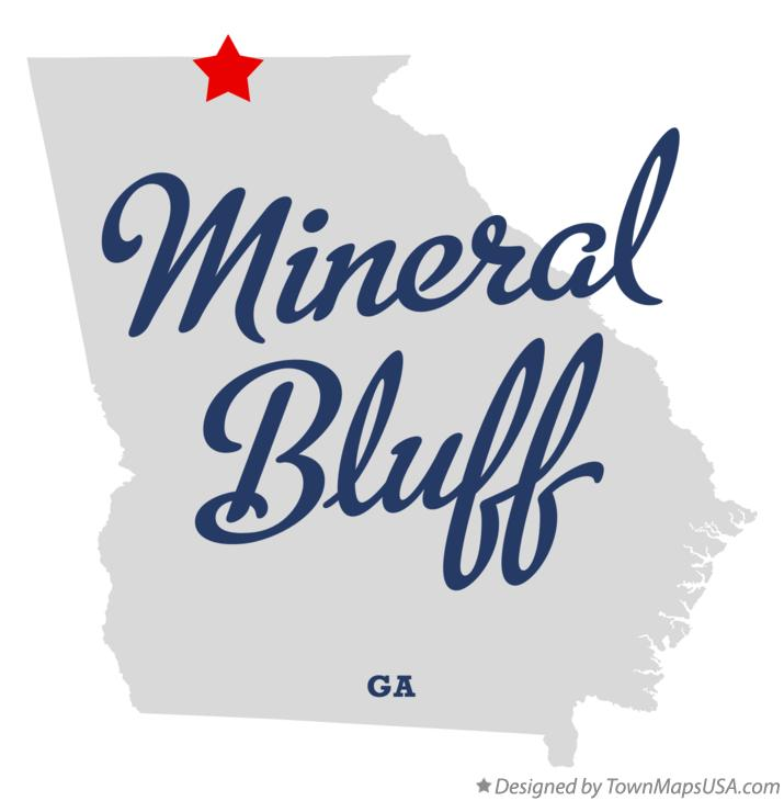 Map of Mineral Bluff Georgia GA