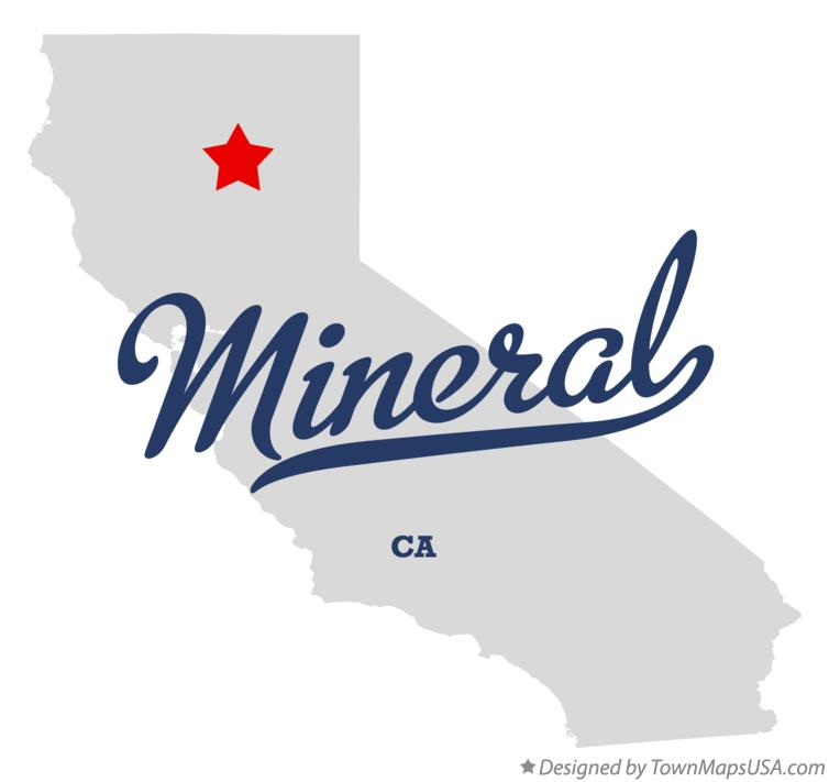 Map of Mineral California CA