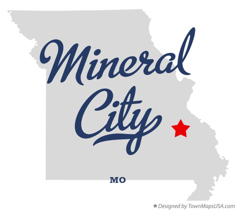 Map of Mineral City Missouri MO