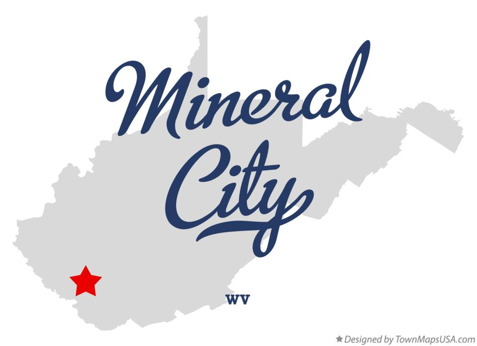 Map of Mineral City West Virginia WV