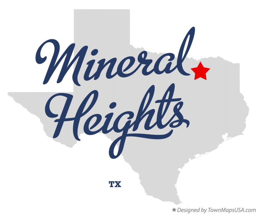 Map of Mineral Heights Texas TX