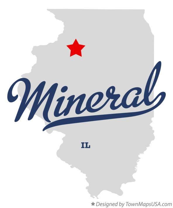 Map of Mineral Illinois IL