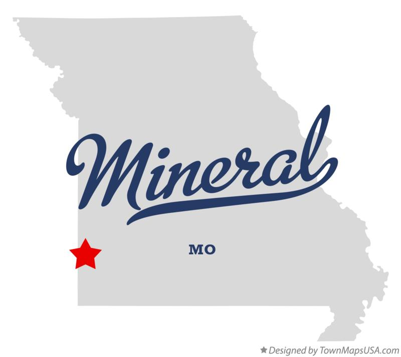 Map of Mineral Missouri MO