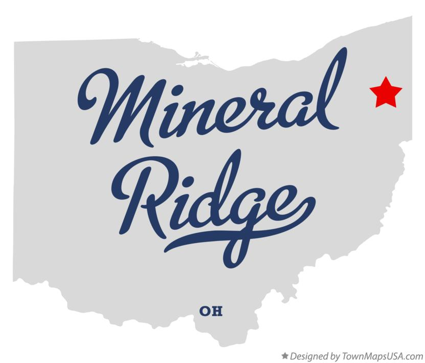 Map of Mineral Ridge Ohio OH