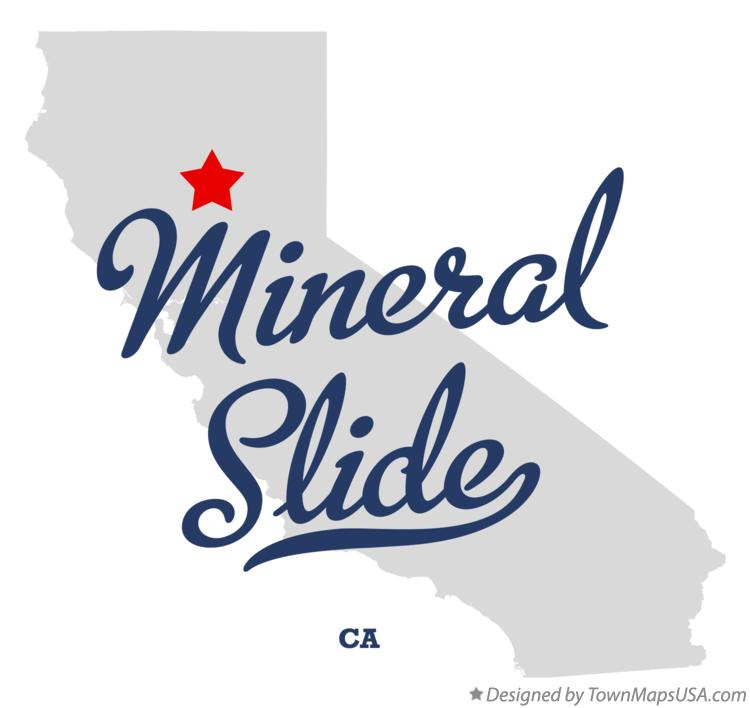 Map of Mineral Slide California CA