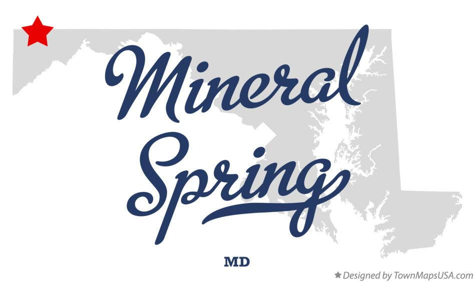 Map of Mineral Spring Maryland MD