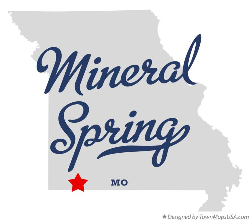 Map of Mineral Spring Missouri MO
