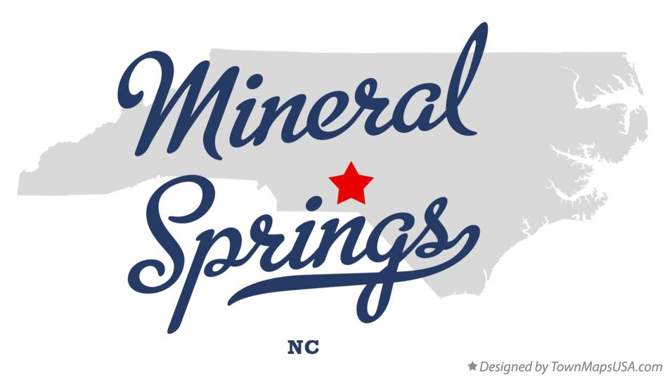 Map of Mineral Springs North Carolina NC