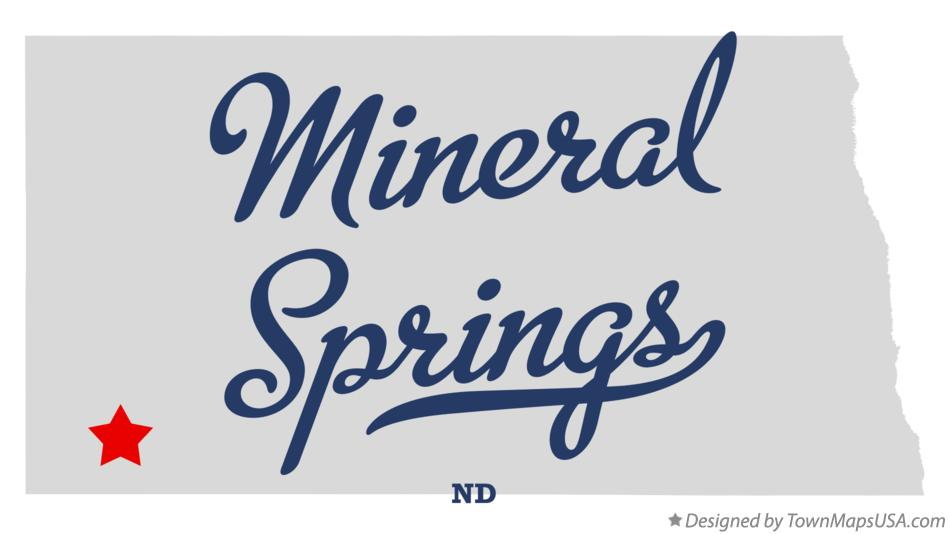 Map of Mineral Springs North Dakota ND