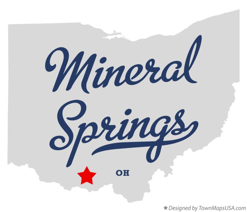 Map of Mineral Springs Ohio OH