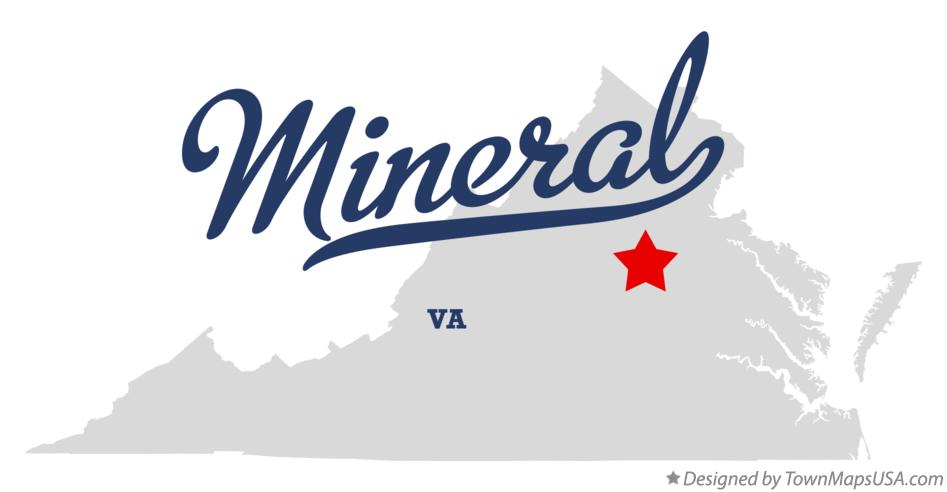 Map of Mineral Virginia VA