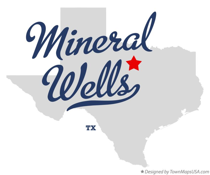 Map of Mineral Wells Texas TX