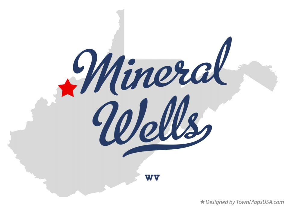 Map of Mineral Wells West Virginia WV