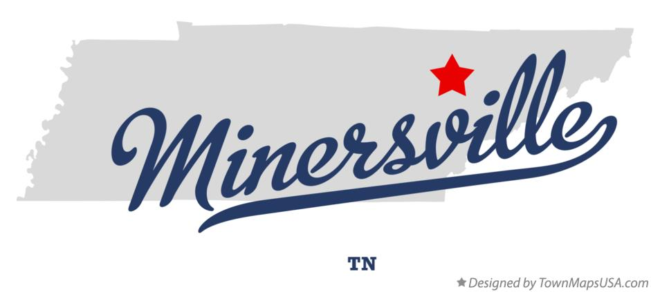 Map of Minersville Tennessee TN