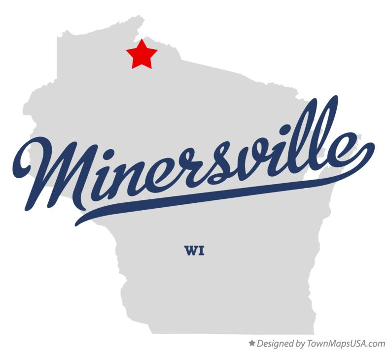 Map of Minersville Wisconsin WI