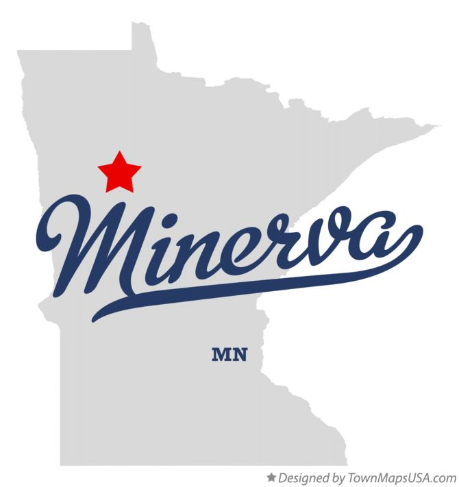 Map of Minerva Minnesota MN
