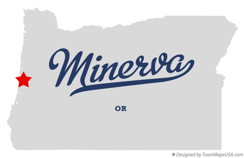 Map of Minerva Oregon OR