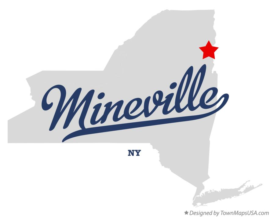 Map of Mineville New York NY