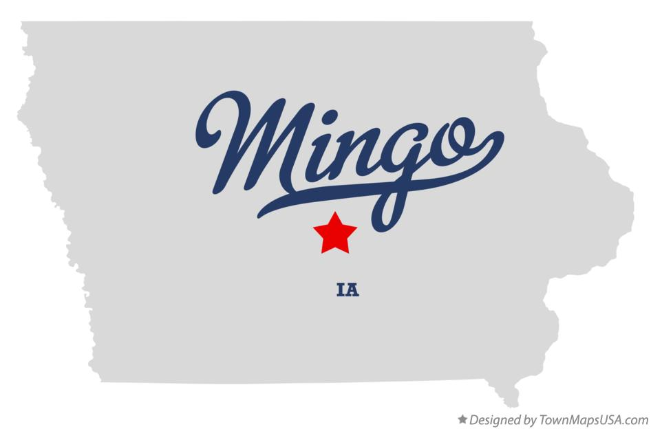 Map of Mingo Iowa IA