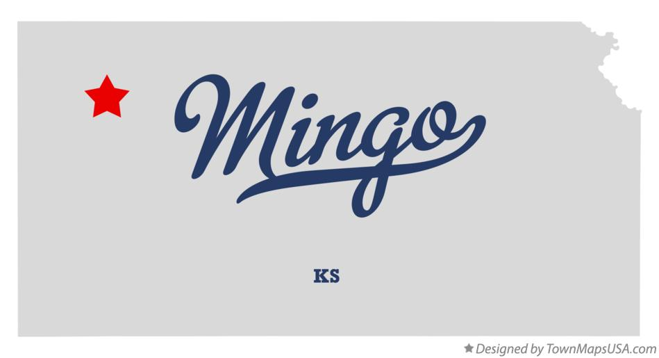Map of Mingo Kansas KS