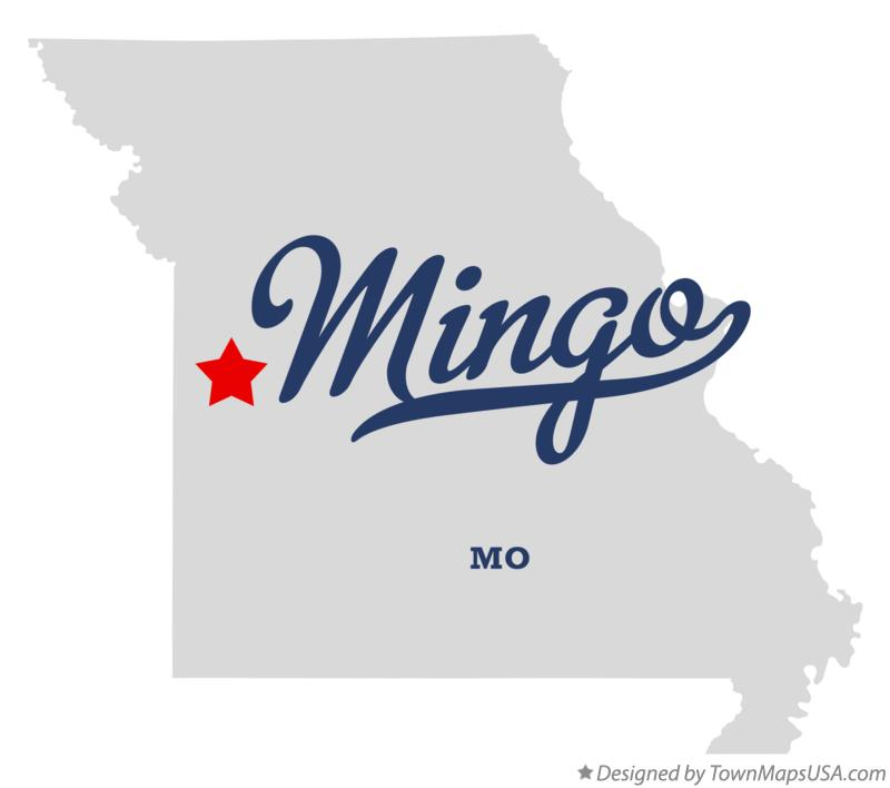 Map of Mingo Missouri MO