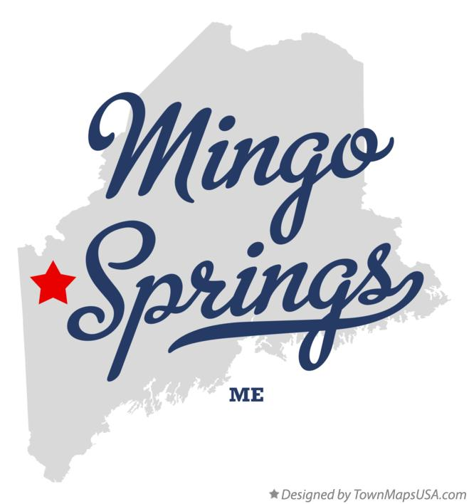 Map of Mingo Springs Maine ME