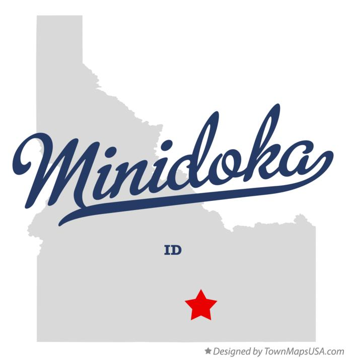 Map of Minidoka Idaho ID