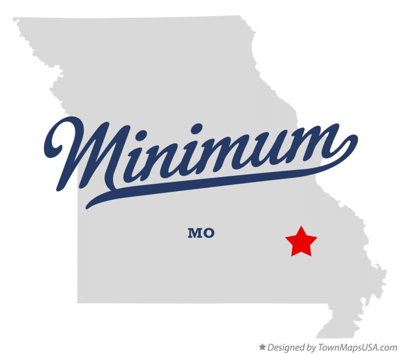 Map of Minimum Missouri MO