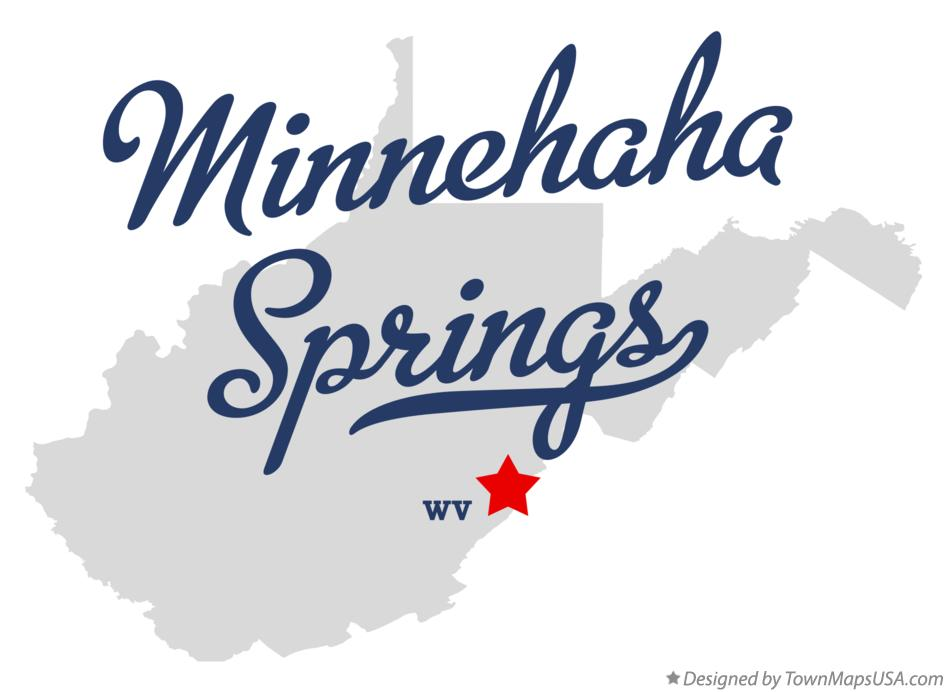 Map of Minnehaha Springs West Virginia WV