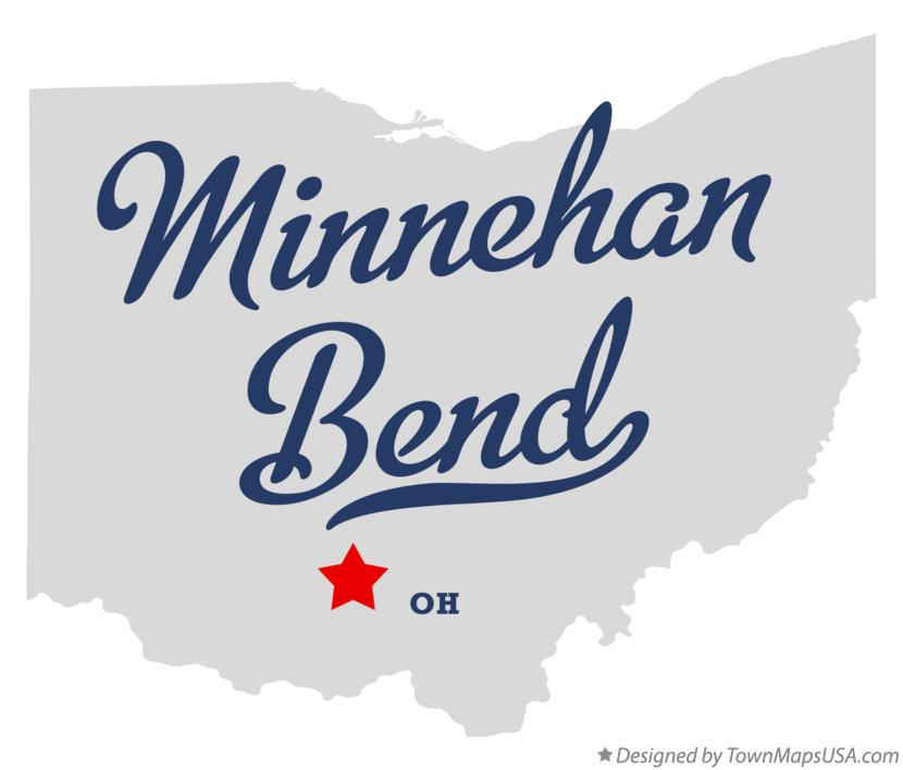 Map of Minnehan Bend Ohio OH