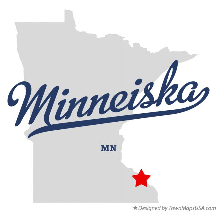 Map of Minneiska Minnesota MN