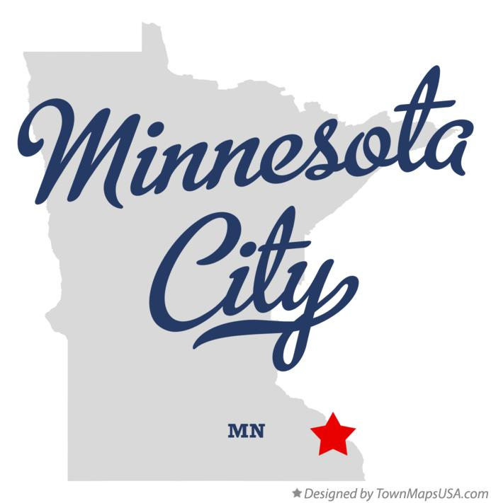 Map of Minnesota City Minnesota MN