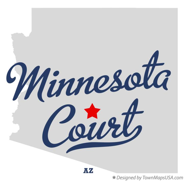 Map of Minnesota Court Arizona AZ