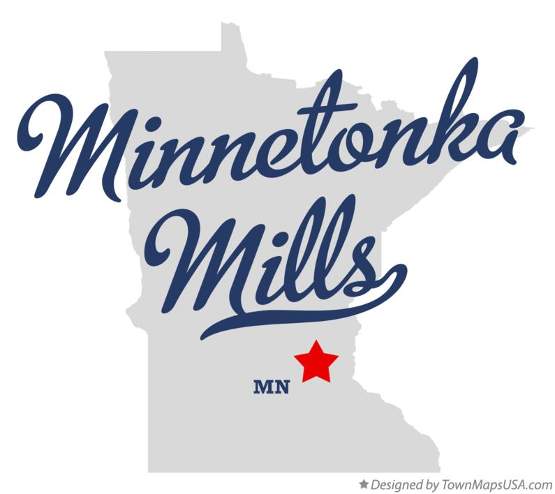 Map of Minnetonka Mills Minnesota MN