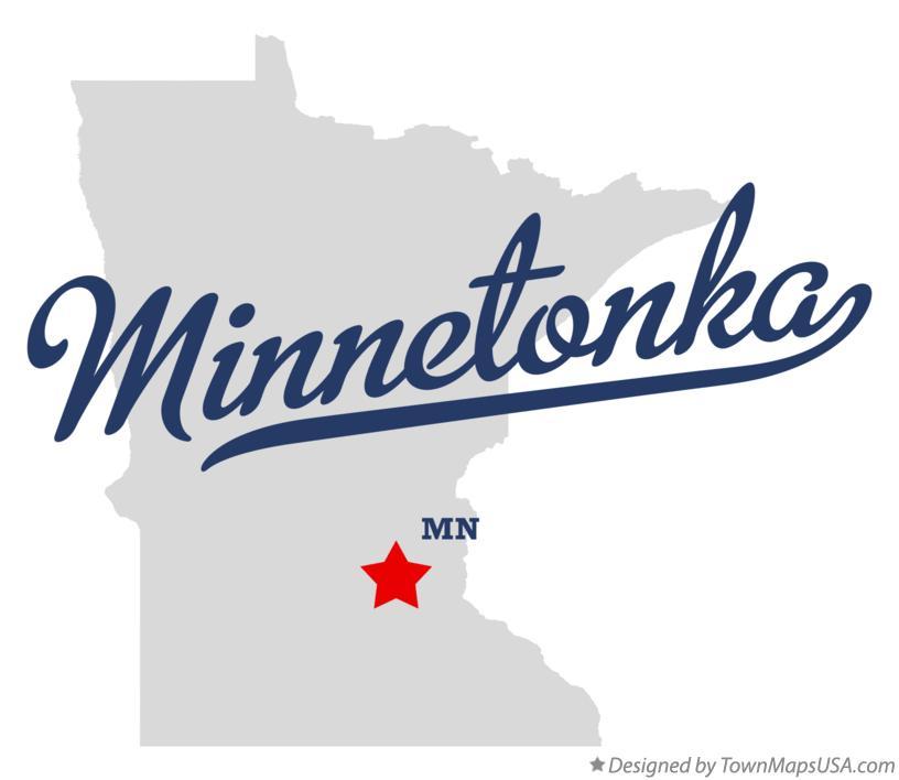 Map of Minnetonka, MN, Minnesota