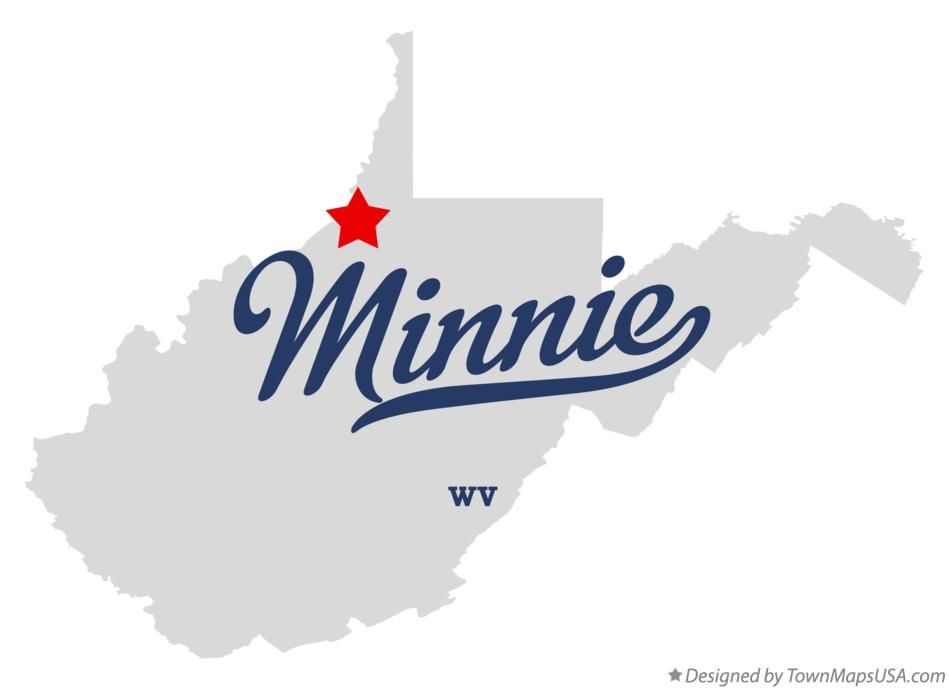 Map of Minnie West Virginia WV