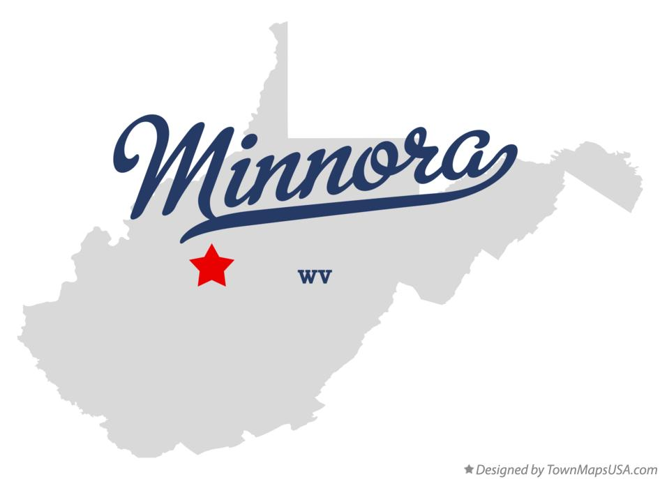Map of Minnora West Virginia WV