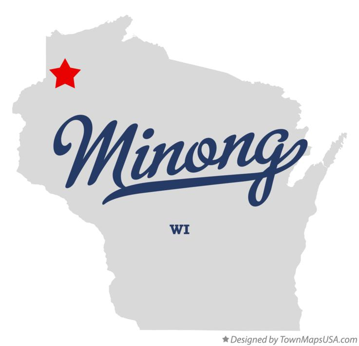 Map of Minong Wisconsin WI