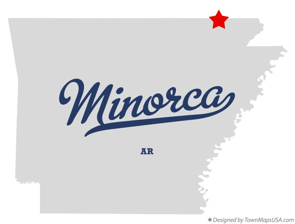 Map of Minorca Arkansas AR