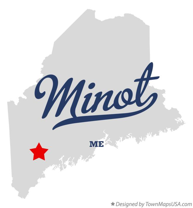 Map of Minot Maine ME